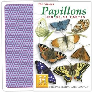 Papillons (French Language) set of 52 playing cards (+ jokers)    (hpc)